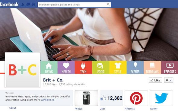 Brit + Co Facebook Page