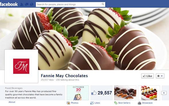 Fannie Mae Chocolates Facebook Page