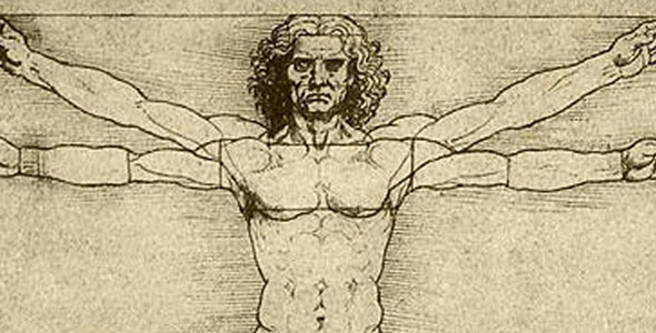 Photo: Vitruvian Man by Leonardo da Vinci