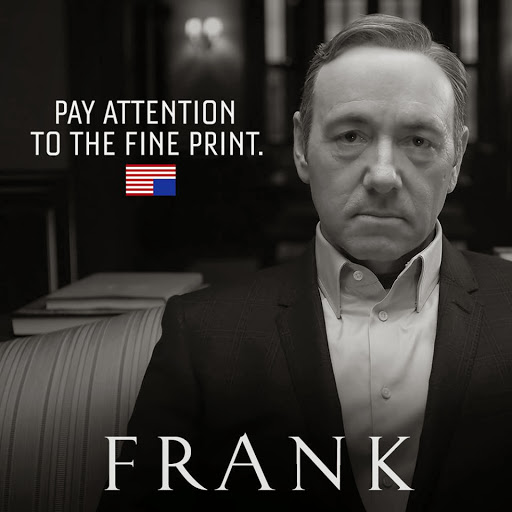 Photo: Frank Underwood; Source: Netflix, House of Cards