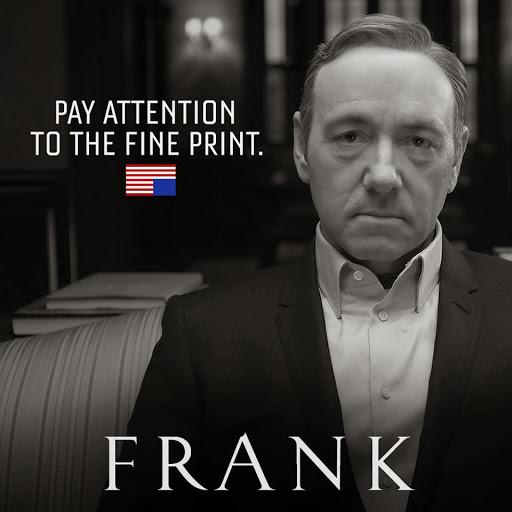 Photo: Frank Underwood; Source: Netflix, House of Cards