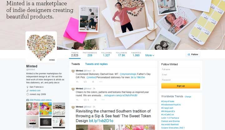 Photo: Minted Twitter Page