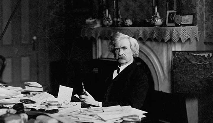 Photo: Mark Twain's Desk; Source: http://bit.ly/1nhLcoT
