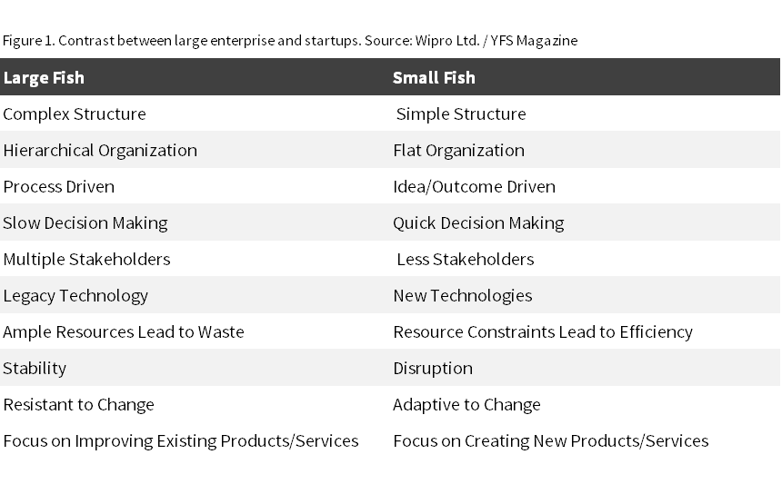 Figure 1 Large Enterprises Compared to Startups