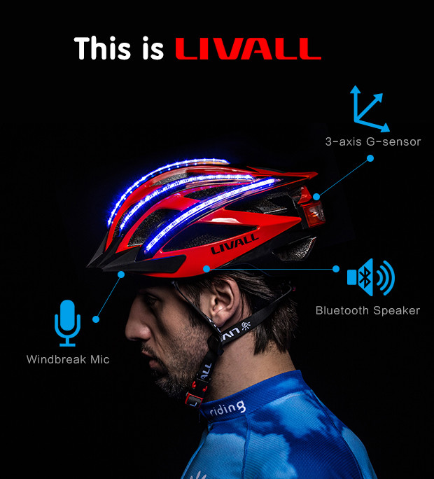 Photo: LIVALL Bling Helmet; Source: Indiegogo