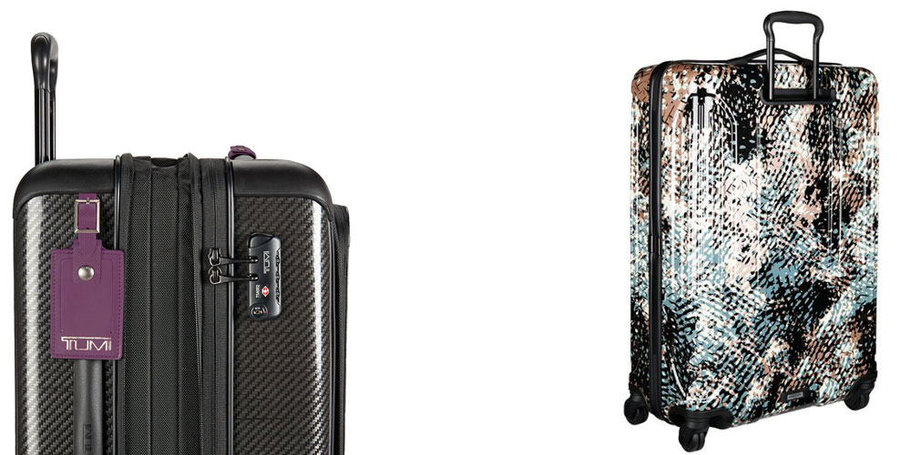 Photo: (Left to Right) Tegra-Lite® Max Continental Expandable Carry-On; Vapor Lite Extended Trip Packing Case; Source: Tumi.com