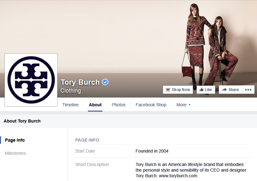 Photo: Tory Burch Facebook Page; Source: Facebook