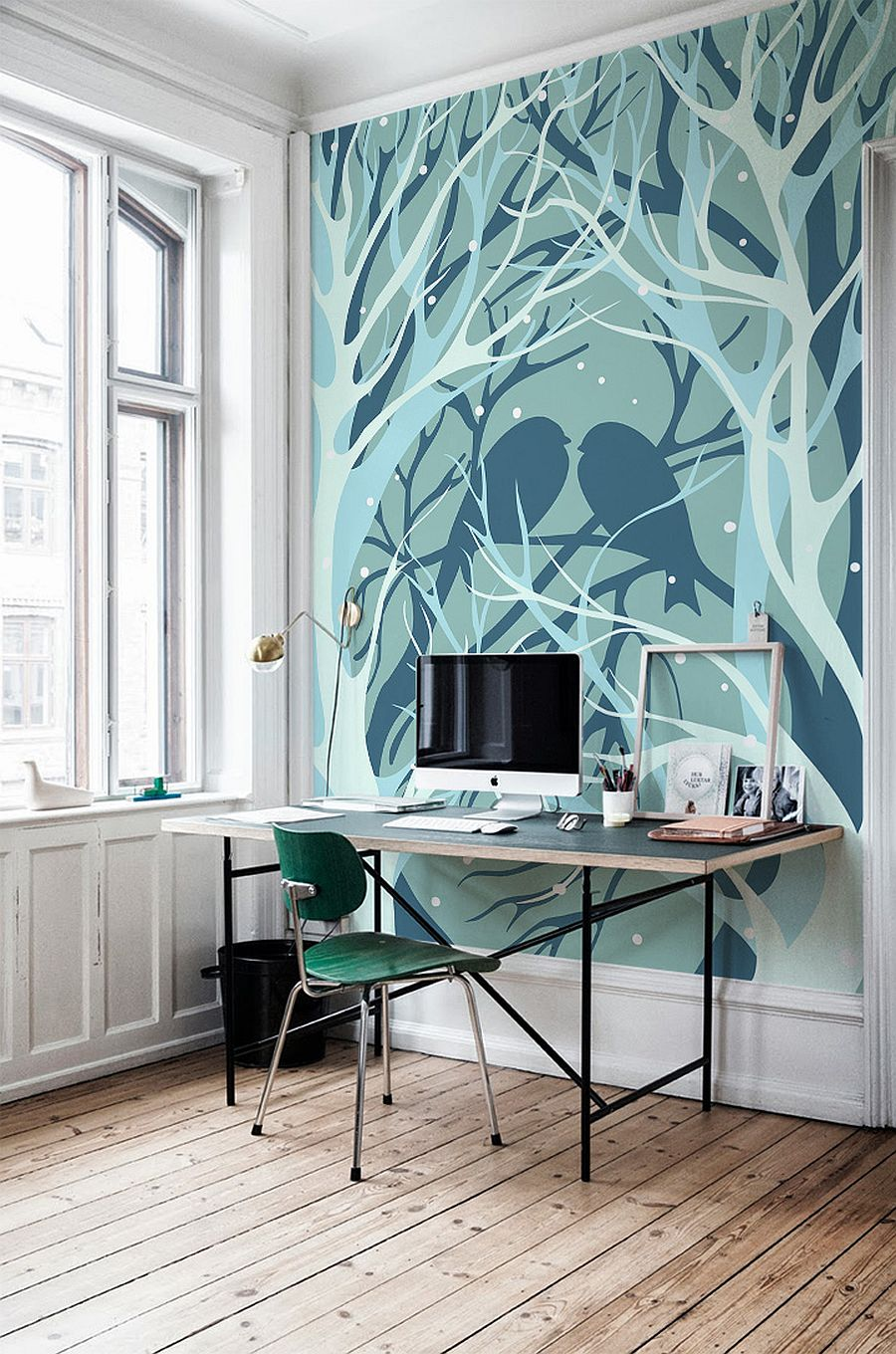 5 simple ways to refresh your home office space yfs magazine photo wall mural source decoist com