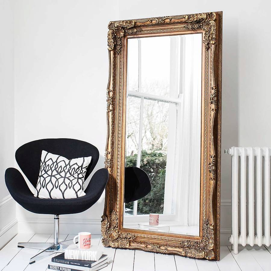 Photo: Carved Floor Standing Mirror by Primrose & Plum; Source: Notonthehighstreet.com