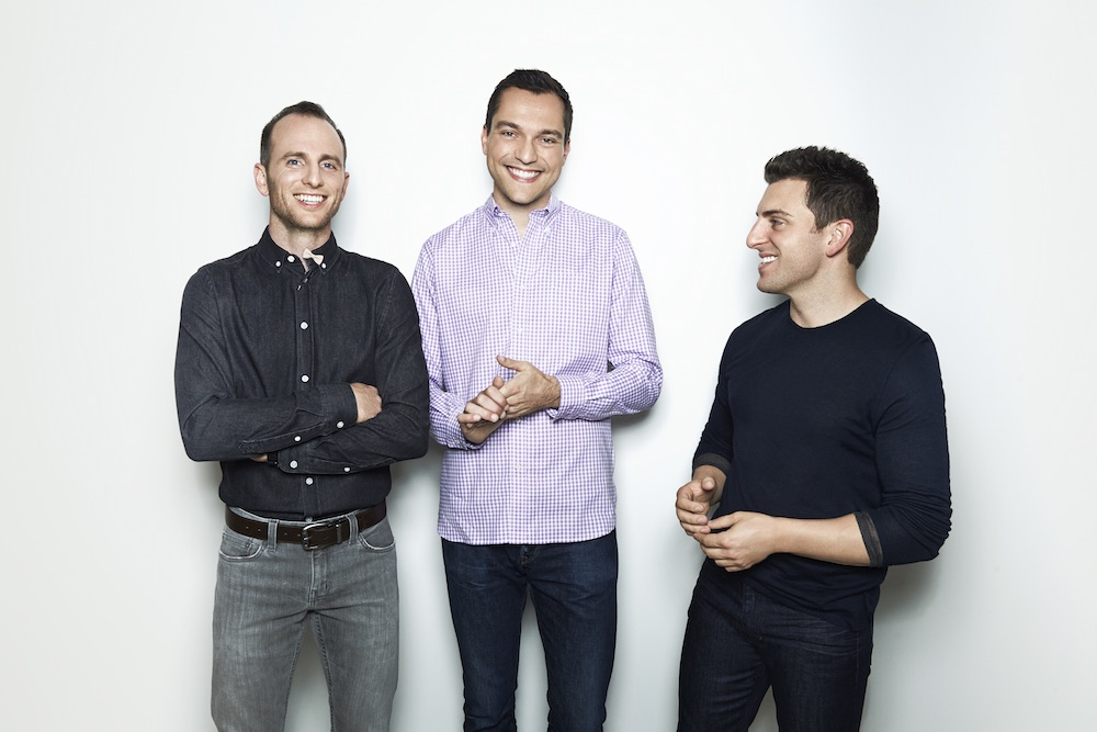 Photo: Joe Gebbia, Nathan Blecharczyk, Brian Chesky; Source: Airbnb