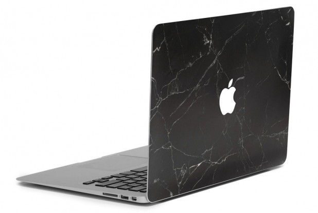 Photo: Marble MacBook Skin - Black; Source: Uniqfind