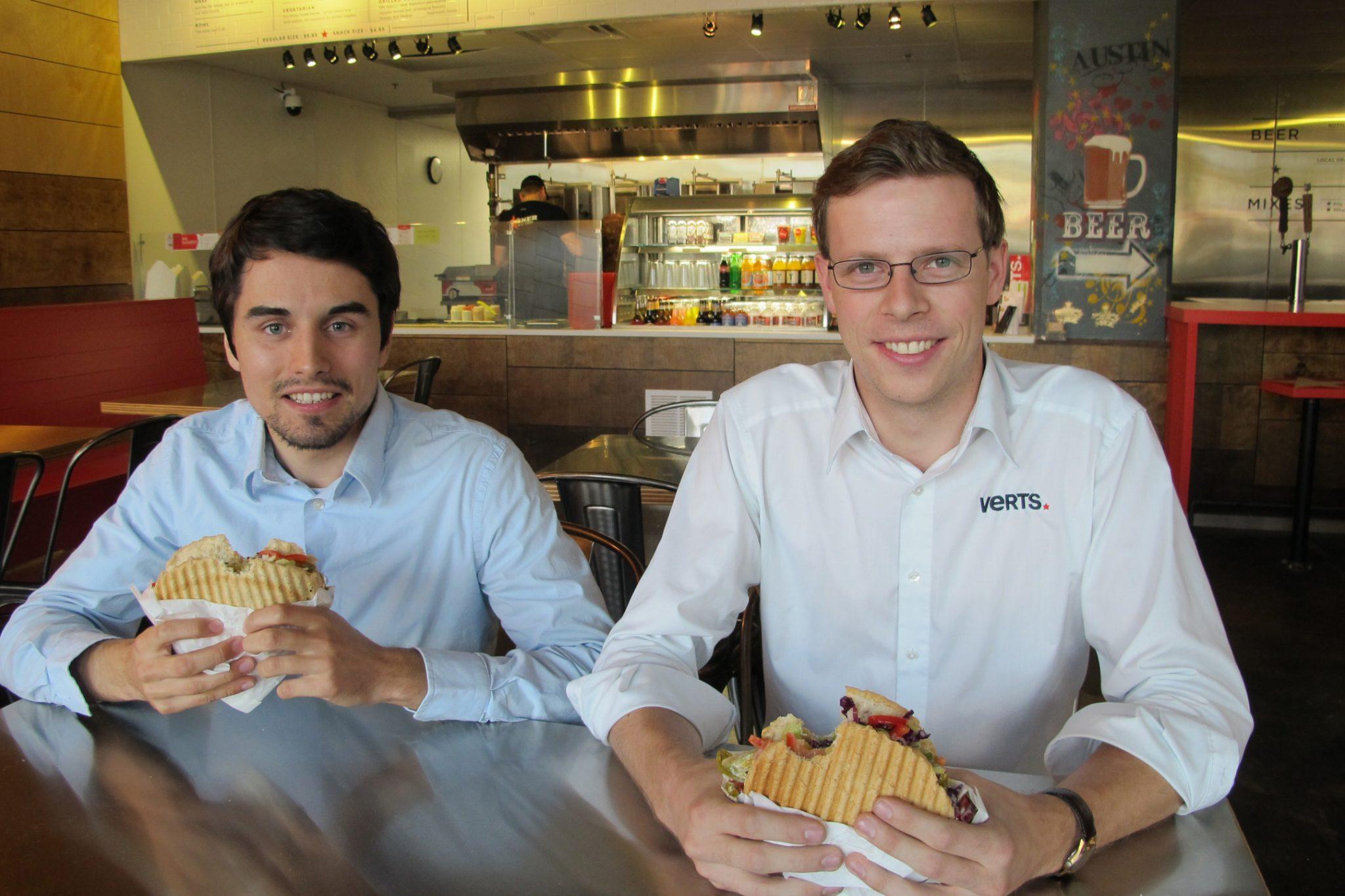 Photo: Verts founders Dominik Stein and Michael Heyne; Source: Courtesy Photo