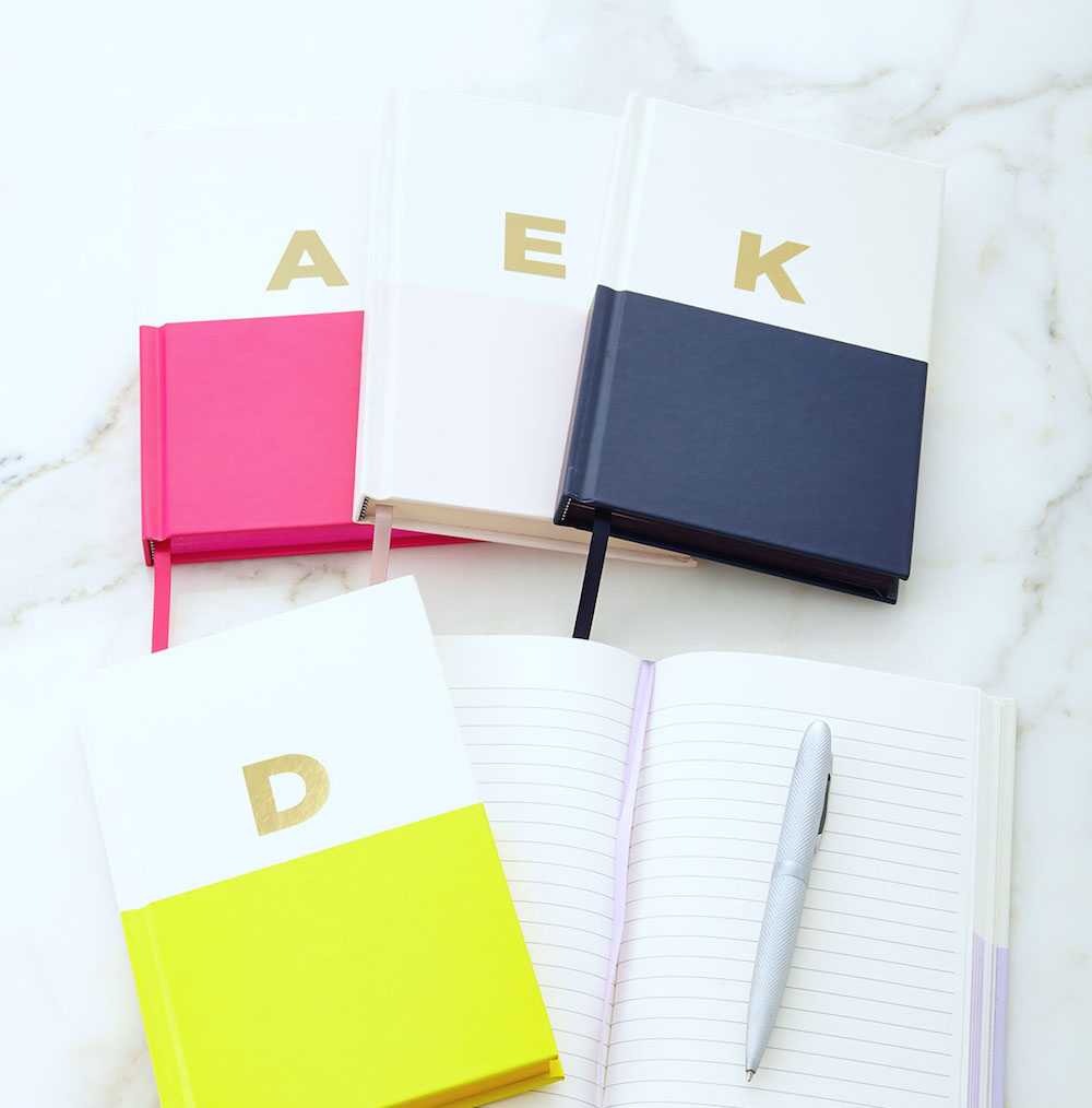 Photo: Dipped Initial Journal; Source: Kate Spade