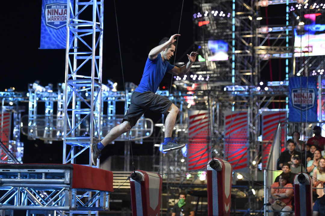 Photo: American Ninja Warrior, Pictured: Ethan Swanson; Source: David Becker/NBC
