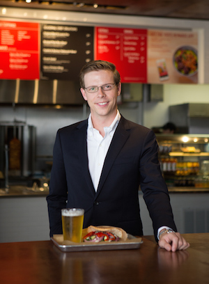 Photo: Michael Heyne, co-founder and CEO of VERTS Mediterranean Grill; Source: Courtesy Photo