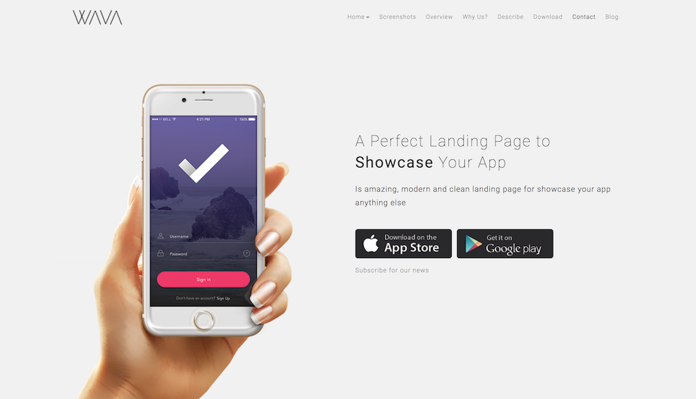 Mobile App Landing Page Example - YFS Magazine