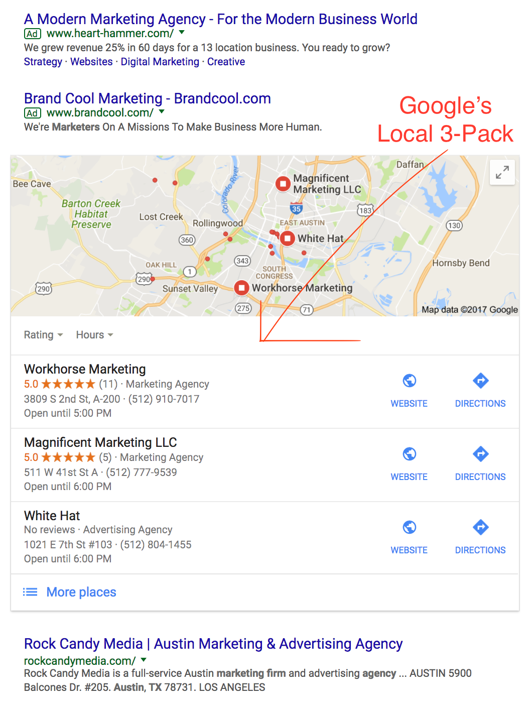 Google's Local 3-Pack, Small Business SEO Tips