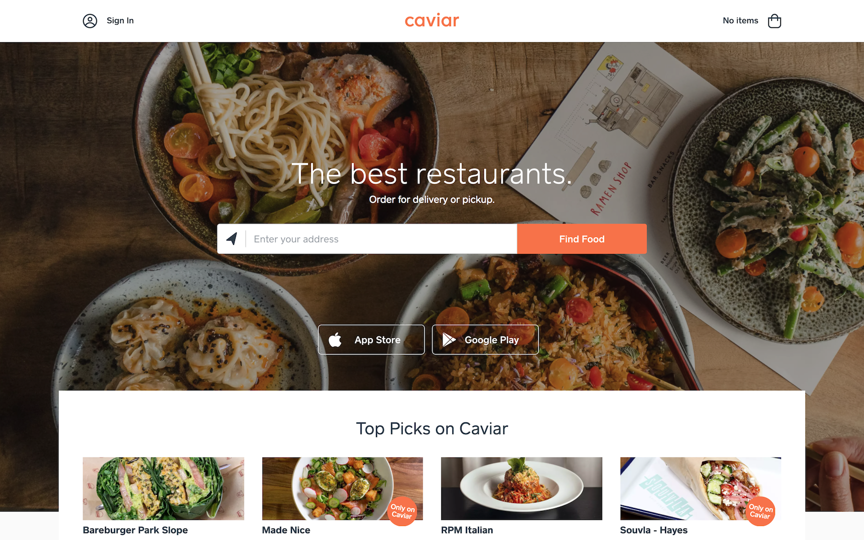 Food Delivery Service Caviar - YFS Magazine