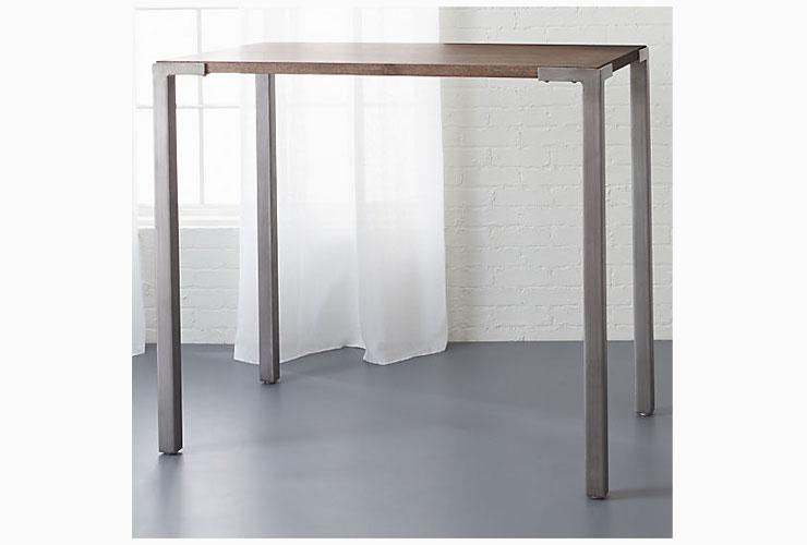 """CB2 Stilt 42"""" High Dining Table Standing Desk"""